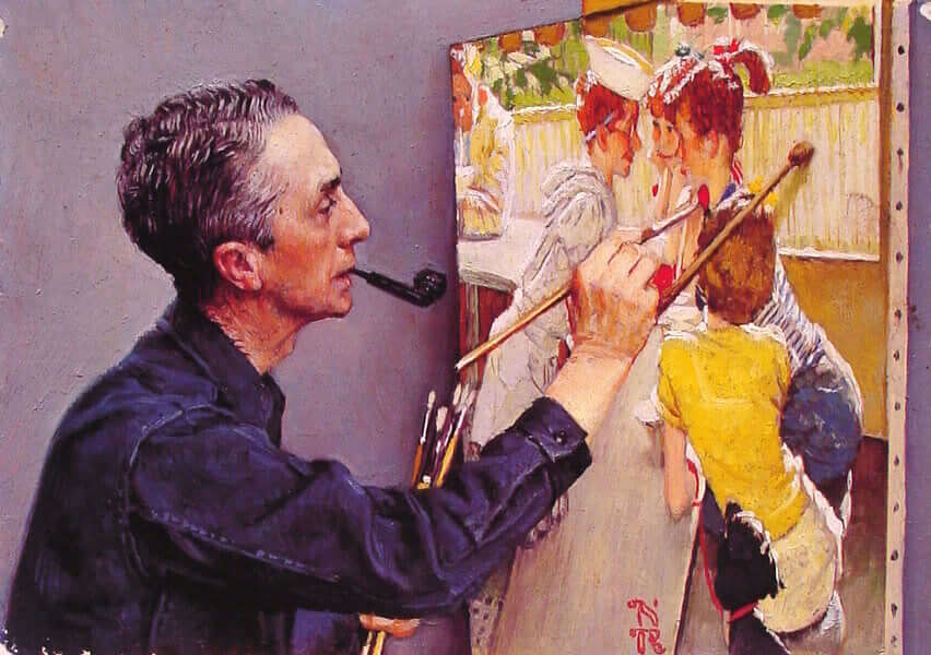 Autoportrait de Norman Rockwell