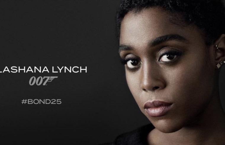 Affiche de Lashana Lynch la nouvelle agent 007 dans le prochain James Bond