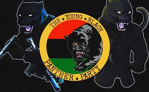 Logo avec des panthères noires