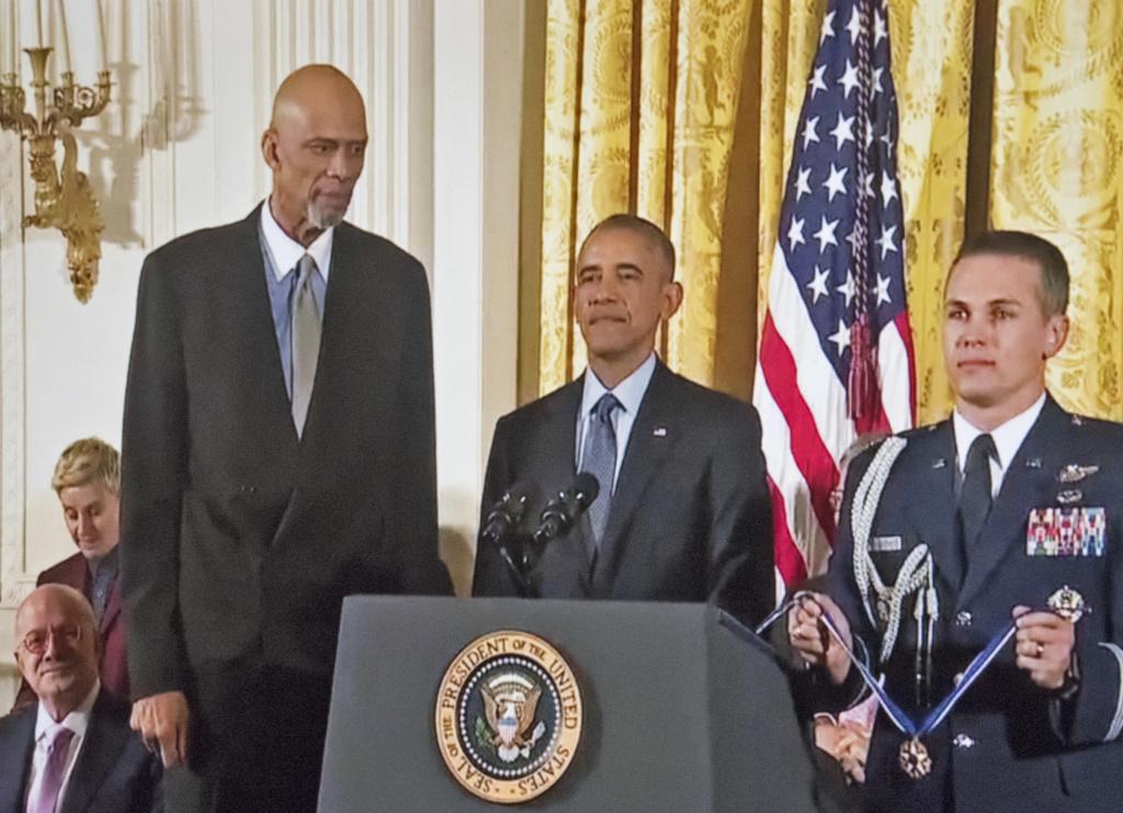 Kareem Abdul-Jabbar et Barack Obama